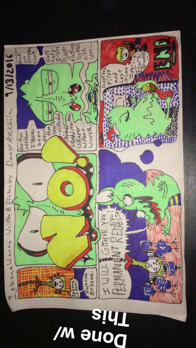 A Comic Strip I wrote & drew (inked as well and whatnot)