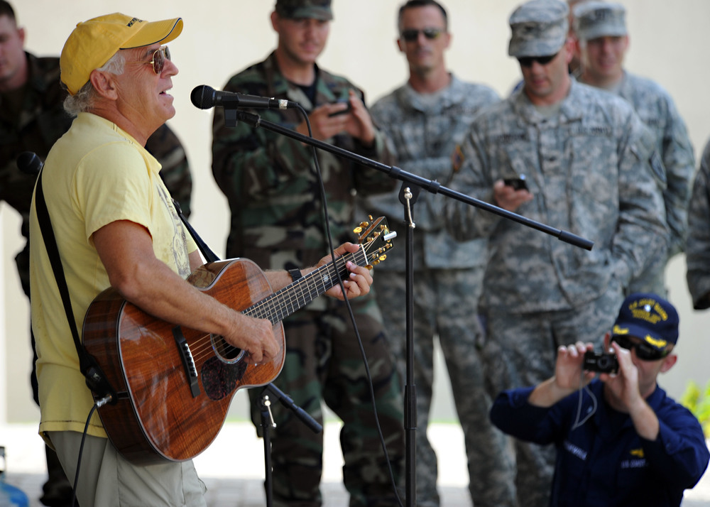 Musician_Jimmy_Buffet_performs_for_members_of_Joint_Task_Force_Haiti_behind_the_U.S._Embassy_in_Port-au-Prince,_Haiti,_March_3,_2010_100303-N-HX866-005.jpg