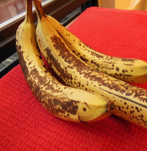 Use really ripe bananas - brown and soft.