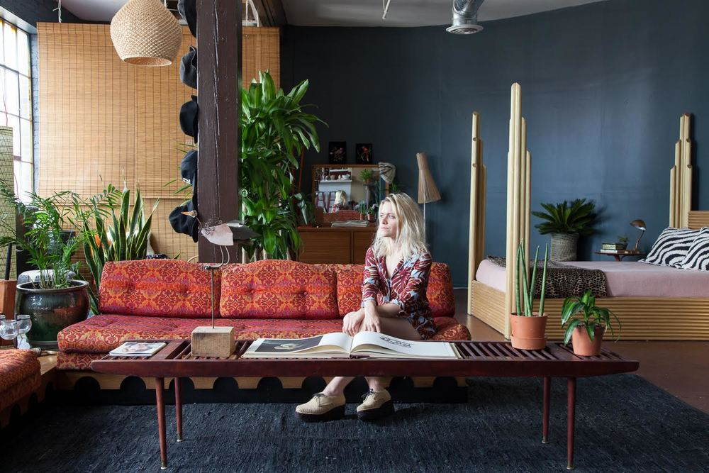 Savannah Yarborough in her studio apartment in downtown Nashville. All photos by  Caroline Allison .