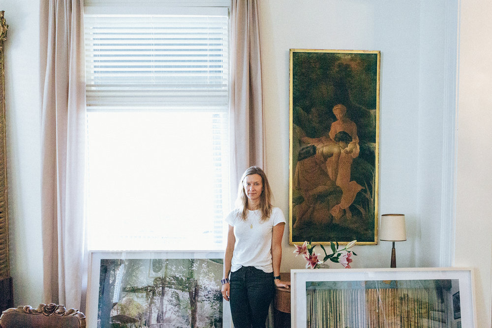 Photographer Caroline Allison at home in west Nashville, surrounded by work from Underground Again, her new show at Nashville's Zeitgeist gallery. All photos by Heidi Ross