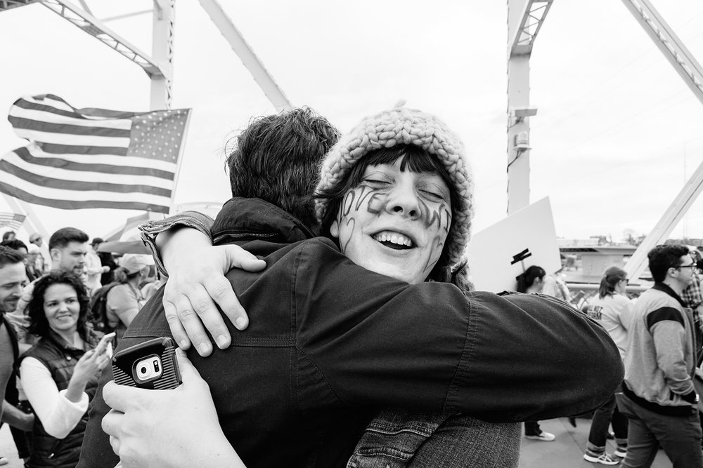 Beautiful faces in the crowd at the Nashville Women's March on January 21, 2017. All photos by  Heidi Ross