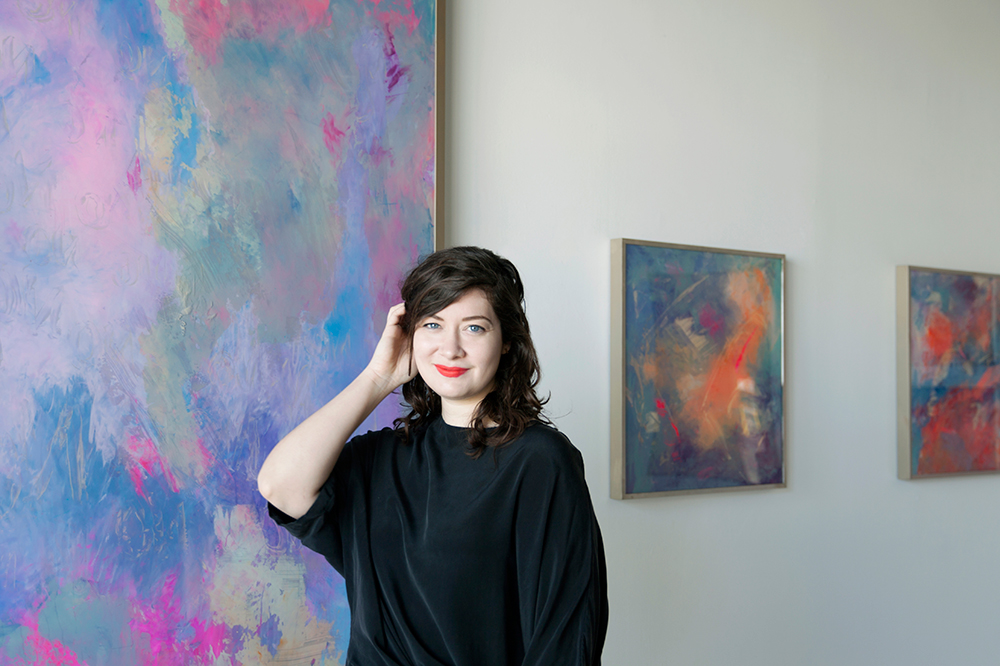 Mary Mooney, photographed in Nashville's Red Arrow Gallery by Chelsea O'Leary.