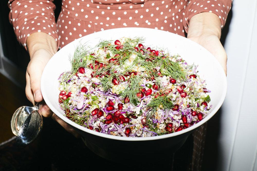 RECIPE by JULIA / cauliflower Tabouli