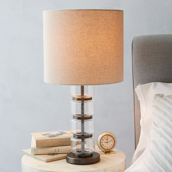 Stacked Glass Cylinder table lamp