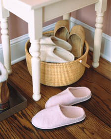 basket of slippers