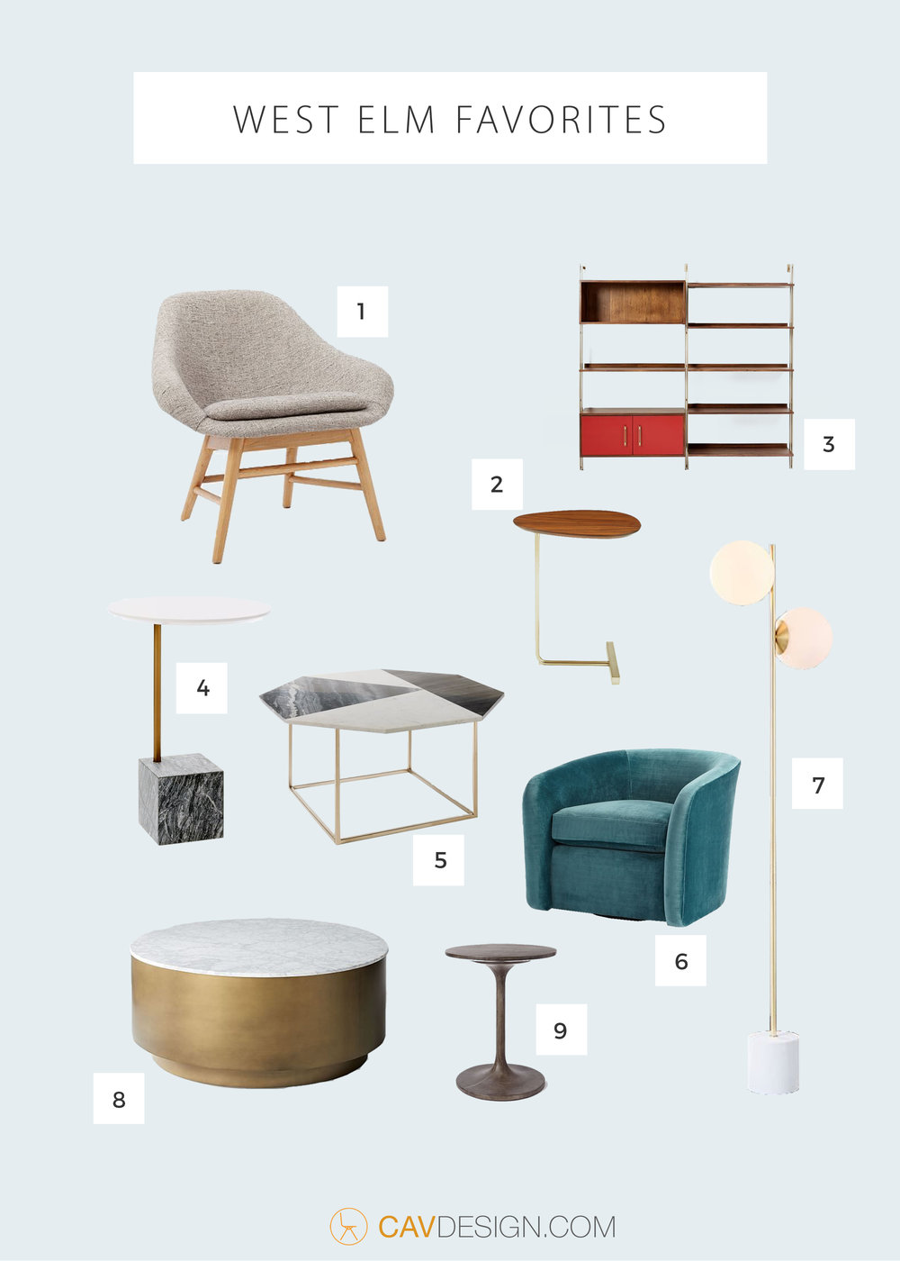 Great New Picks From West Elm CAVDESIGN - West elm drum table