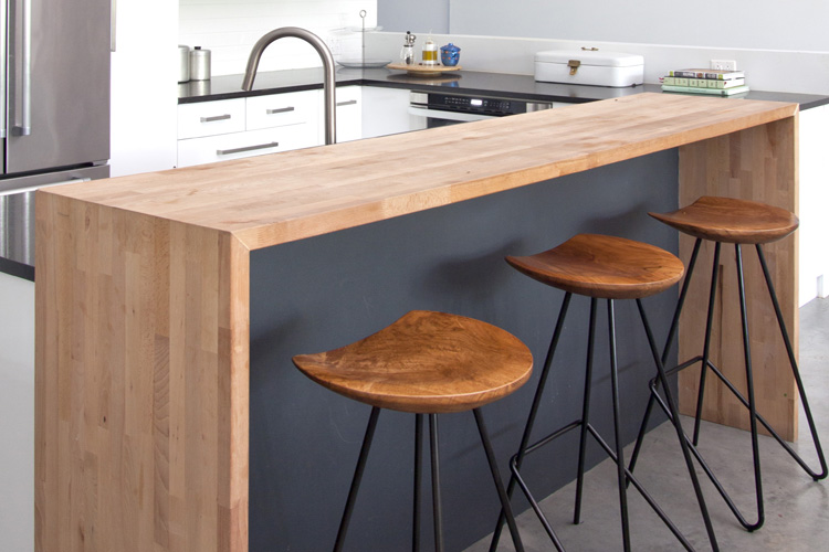 My most popular IKEA kitchen 'hack' crafted from butcher block, cabinetry, sheetrock and chalkboard paint.