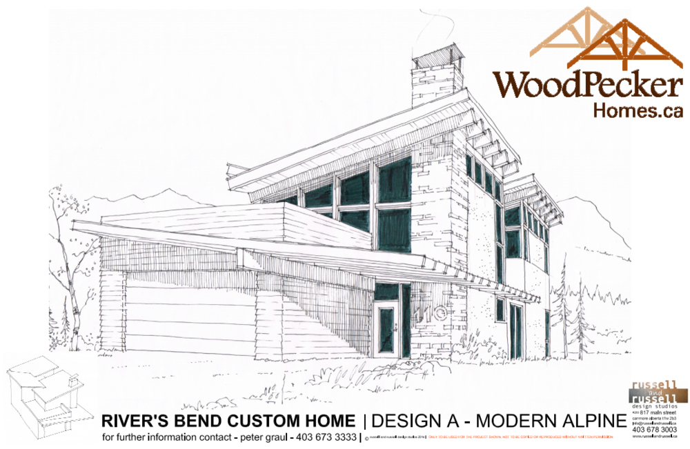 Design A - Modern Alpine - Click to Download PDF of spec sheet
