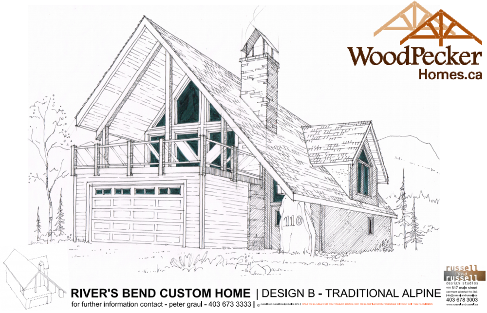 Design B - Traditional Alpine -  Click to Download PDF of spec sheet