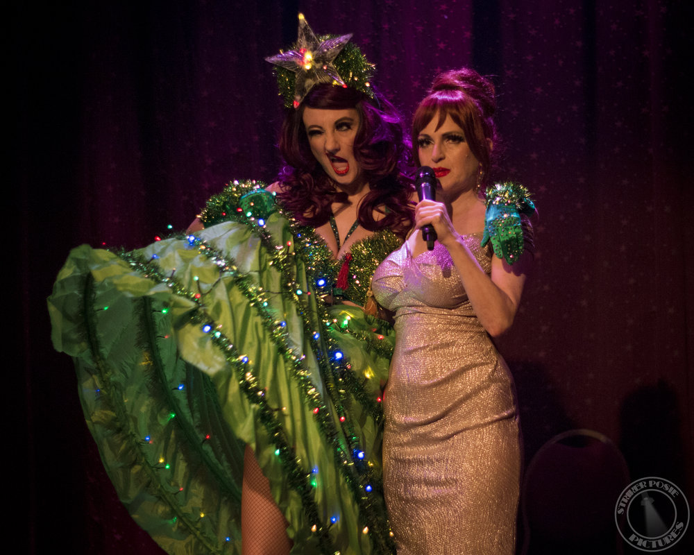 Aphrodite Rose & Jo Boobs at The Slipper Room, January 2017