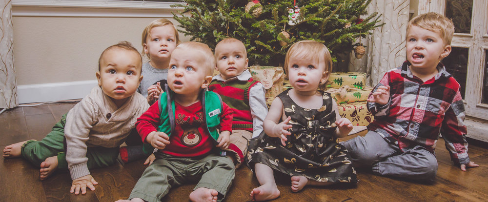 From left to right: Vaughn, Gwen, Wes, Declan, Jahnabell, Sawyer.