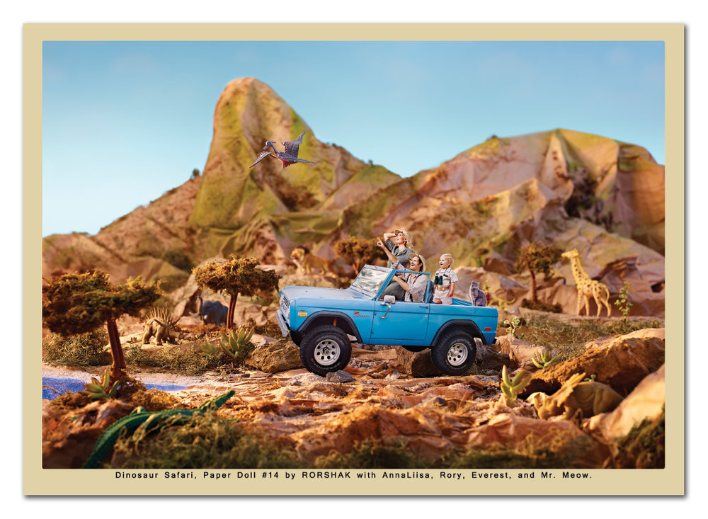 "RORSHAK's ""Dinosaur Safari"" earns spotlight from Magnets.com!    Thank you to the kind folks at Magnets.com for electing my paper doll miniature ""Dinosaur Safari"" magnet as  Magnet of the Month .  Giddy up!   ---     Thank you for taking a moment with this newsletter.  I love making pictures.  Always feel free to inquire if you ever need images!     Rory"