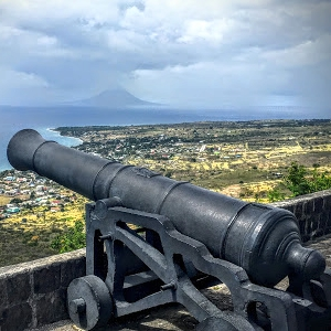 Promenade with Volcano View