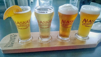 We enjoyed different beers from the Alaskan Brewing Co. throughout the trip.