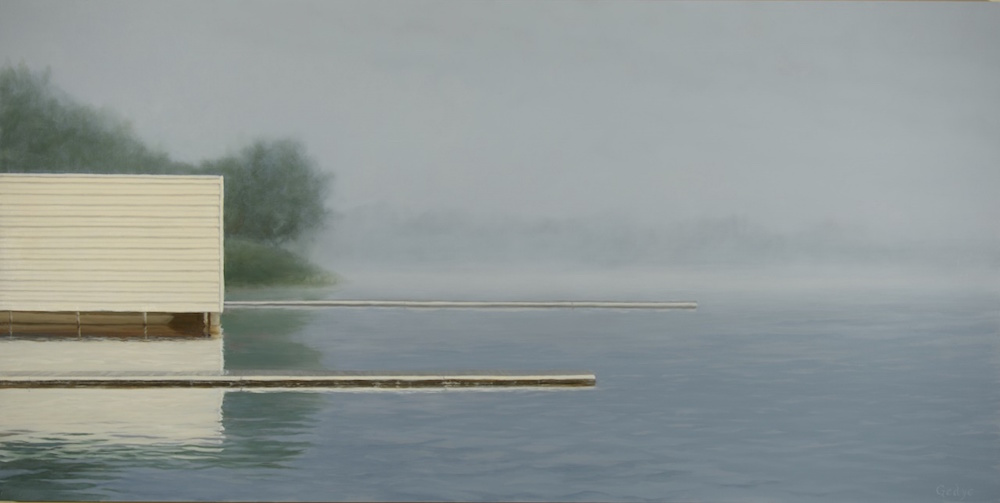 Fog Variations: Two Docks