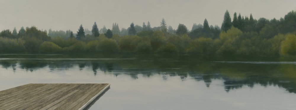 Still Morning Reverie (detail). 24 x 36, oil on linen on panel.
