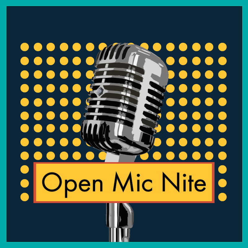 Open Mic Nite - A place for artists of different disciplines, from comedy to music to poetry, to get up, challenge their stage fright, and perform for a supportive audience. A great place to try new material, refine a great cover, practice showmanship, and generally have fun with other like-minded artists.Click here to see photos from past Open Mic Nites