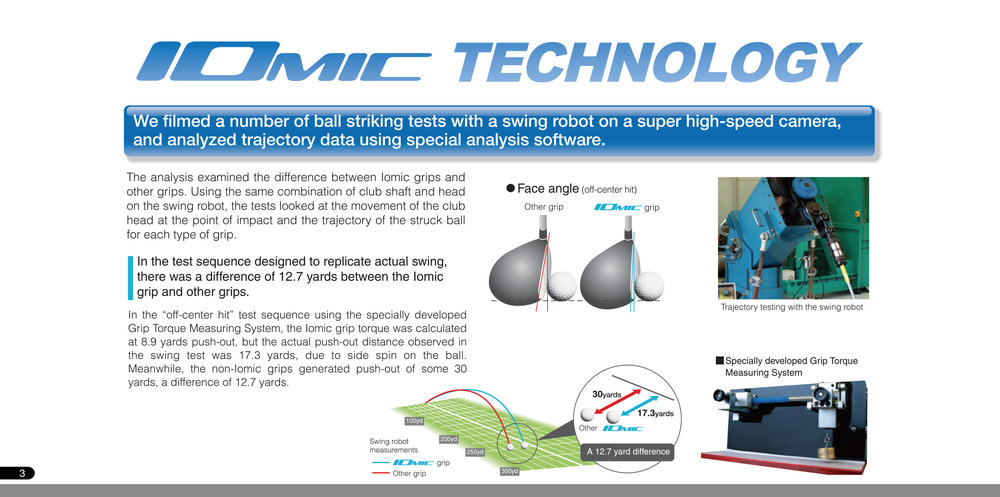 Iomic Grips are designed to complement any golfer of any ability. If you plan on holding your golf club when you hit the ball, then choosing a grip that will improve your mistakes is imperative.