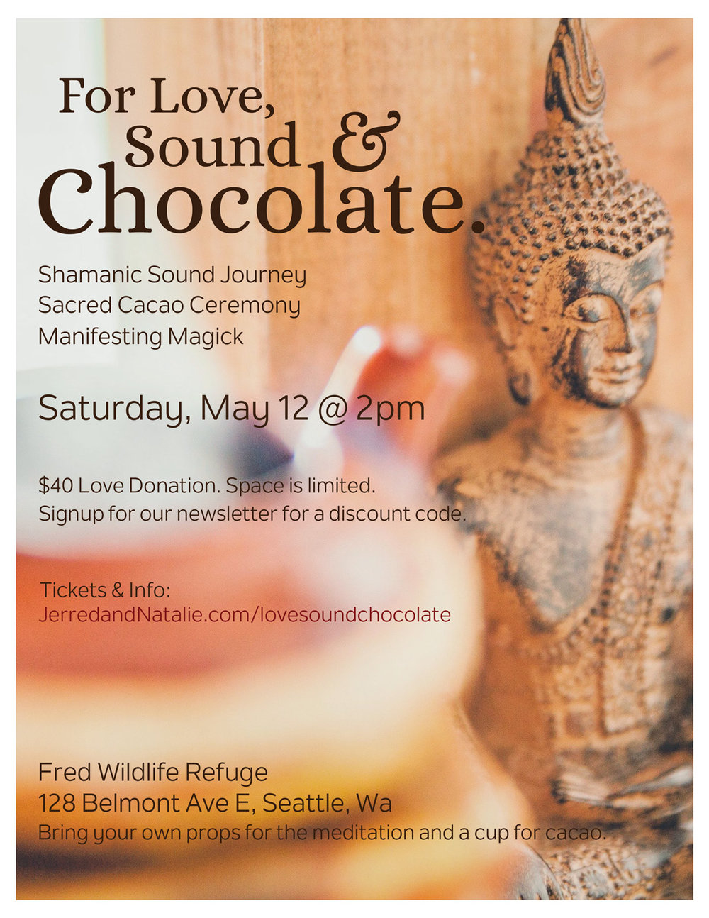 for love sound and chocolate sacred cacao ceremony and shamanic sound journey
