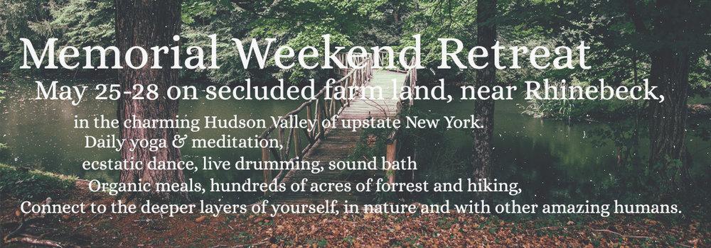 memorial weekend retreat upstate new york