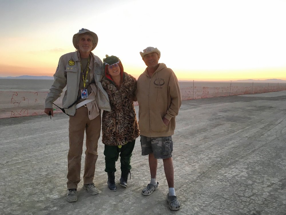 The edge of the Playa with a couple'a Black Rock Rangers