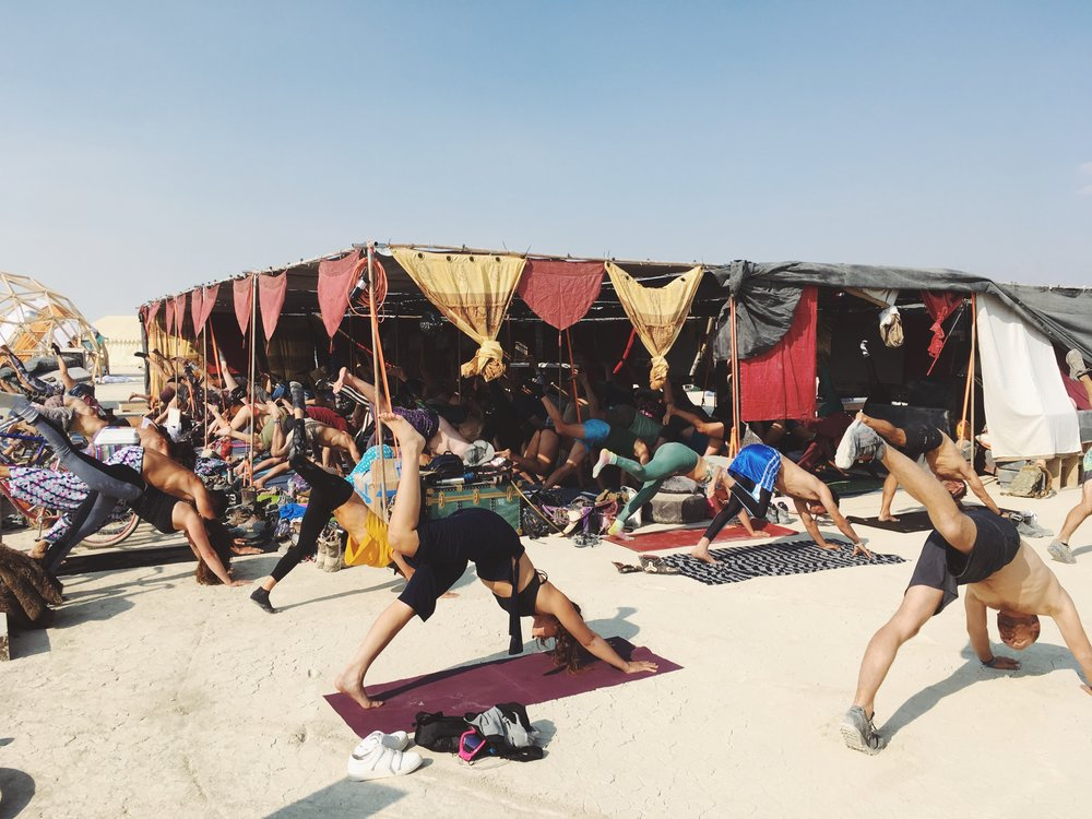 Yoga and Sound Healing, Burning Man 2018
