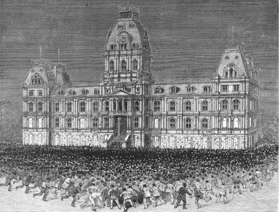 Demostracion contra las vacunas en Leicester 1885