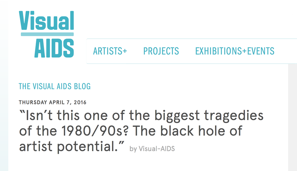 """Isn't this one of the biggest tragedies of the 1980/90s? The black hole of artist potential."""