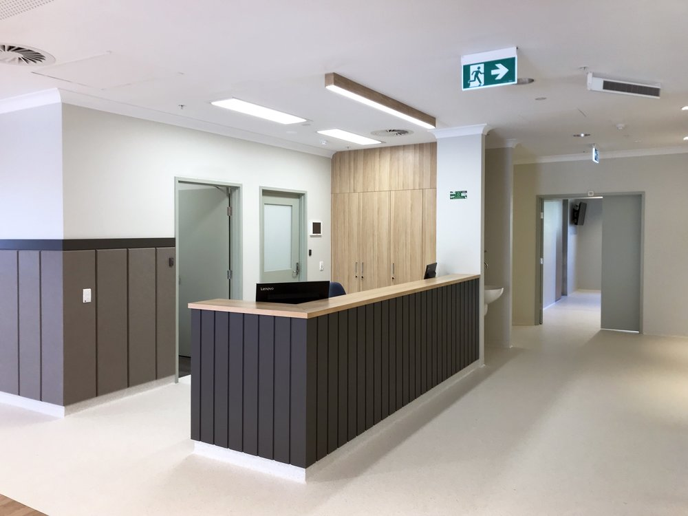 Mt Pleasant Hospital | Aged Care Development   Services: Meinhardt Contractor: GCJ Constructions Photographer: W+S  Aged Care Development extension that involved building on an existing slab (that had been left for 10 years) to extend the aged care facilities to the existing Mount Pleasant District Hospital. Facilities added included a lounge/dining, residents kitchen, staff faciliites and an additional 3 bedrooms with private ensuites. Some existing bedrooms and ensuites were also refurbished during the project.