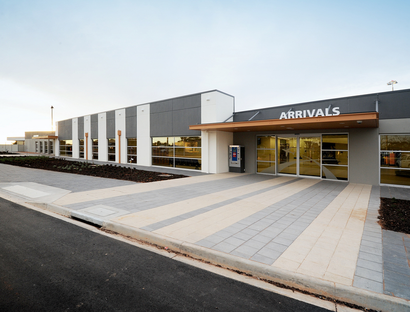 Mildura Airport Terminal   Services: Cundall Contractor: Mossop Construction + Interiors Photographer: Various  New terminal, arrival and concession hall. The redeveloped airport has been awarded the Australian Airports Association 'Airport of the year 2013' for the 50,000 to 500,000 passengers per annum category'.