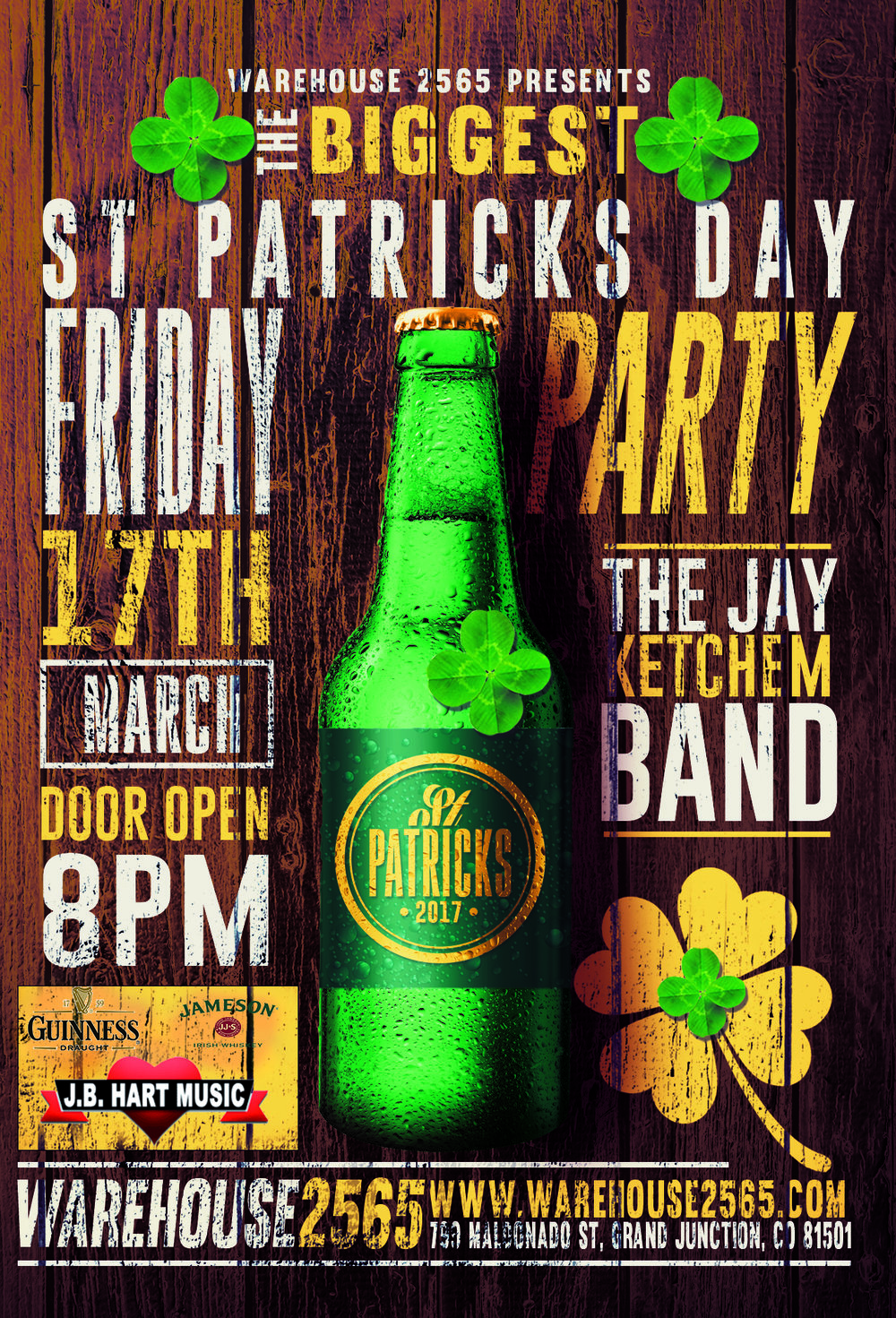 Come get a little Western with us and the Jay Ketchem Band brought to you in part by Guinness, Jameson Irish Whiskey and Hart Music.