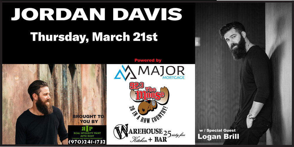 Jordan Davis set to light up the Warehouse with special guest Logan Brill for another 'Major' Concert powered by Major Mortgage, 92.3 The Moose & The Warehouse 2565.