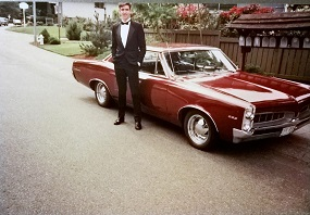 1967 Pontiac LeMans - with tux! how fancy!
