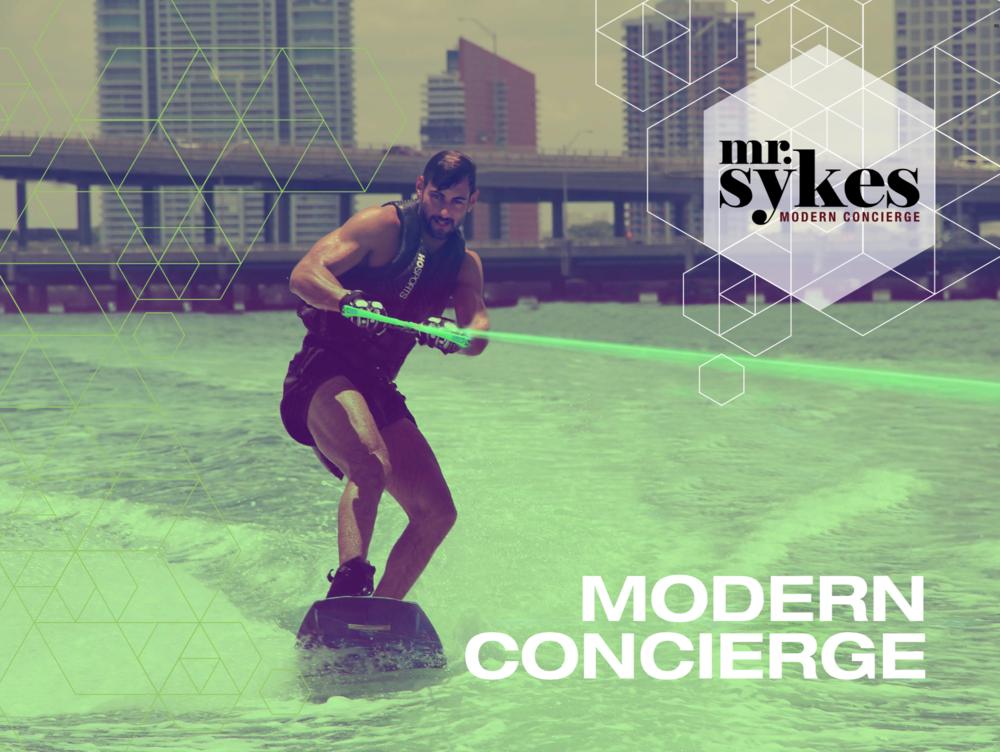 Cover image from first brochure for The Modern Concierge featuring Berliin based DJ Tom Peters / Kevinfunkt