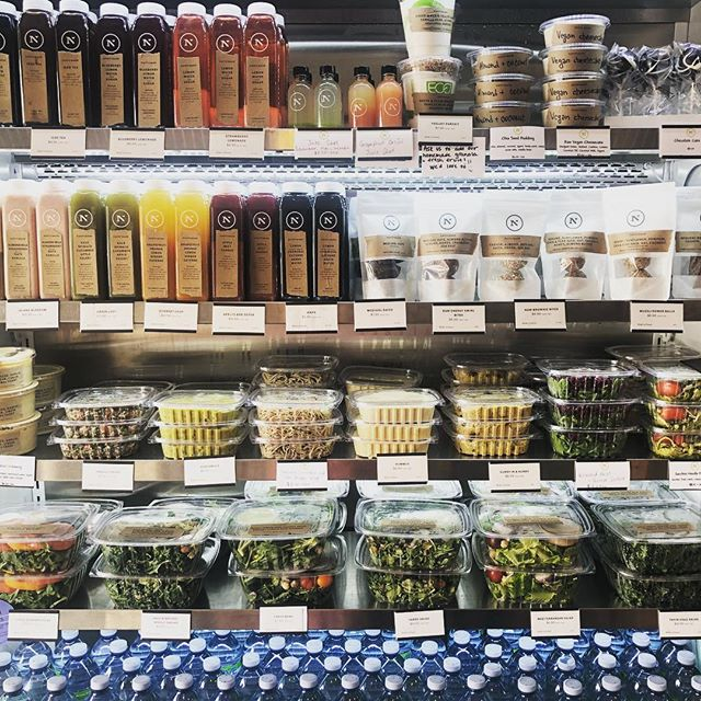 Our fridge is bursting with organic, fresh, house made goodies for you to grab and go. #nativmade #nantucketorganics #reinventingfastfood #nantucketeats