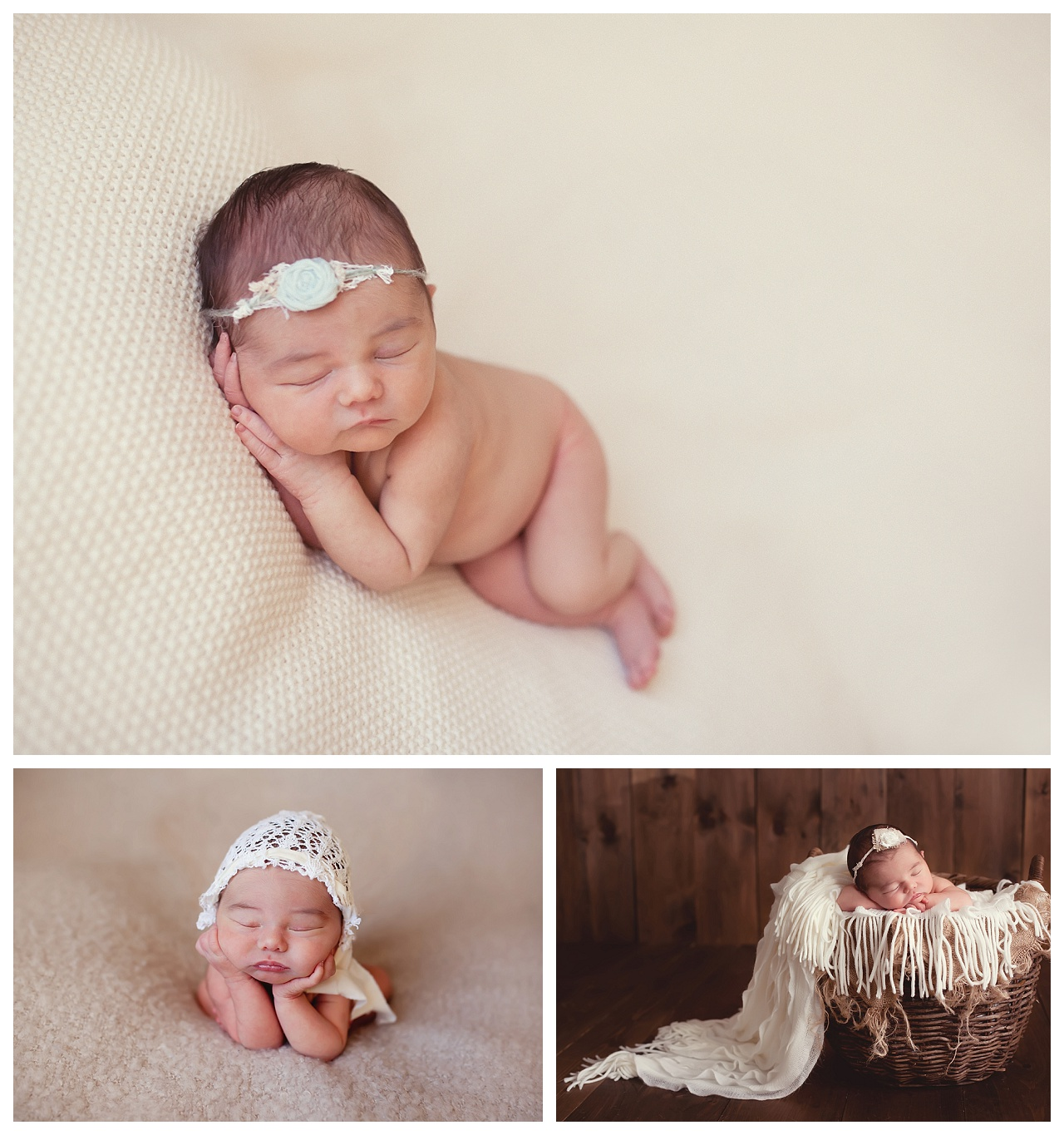 Organic newborn studio session
