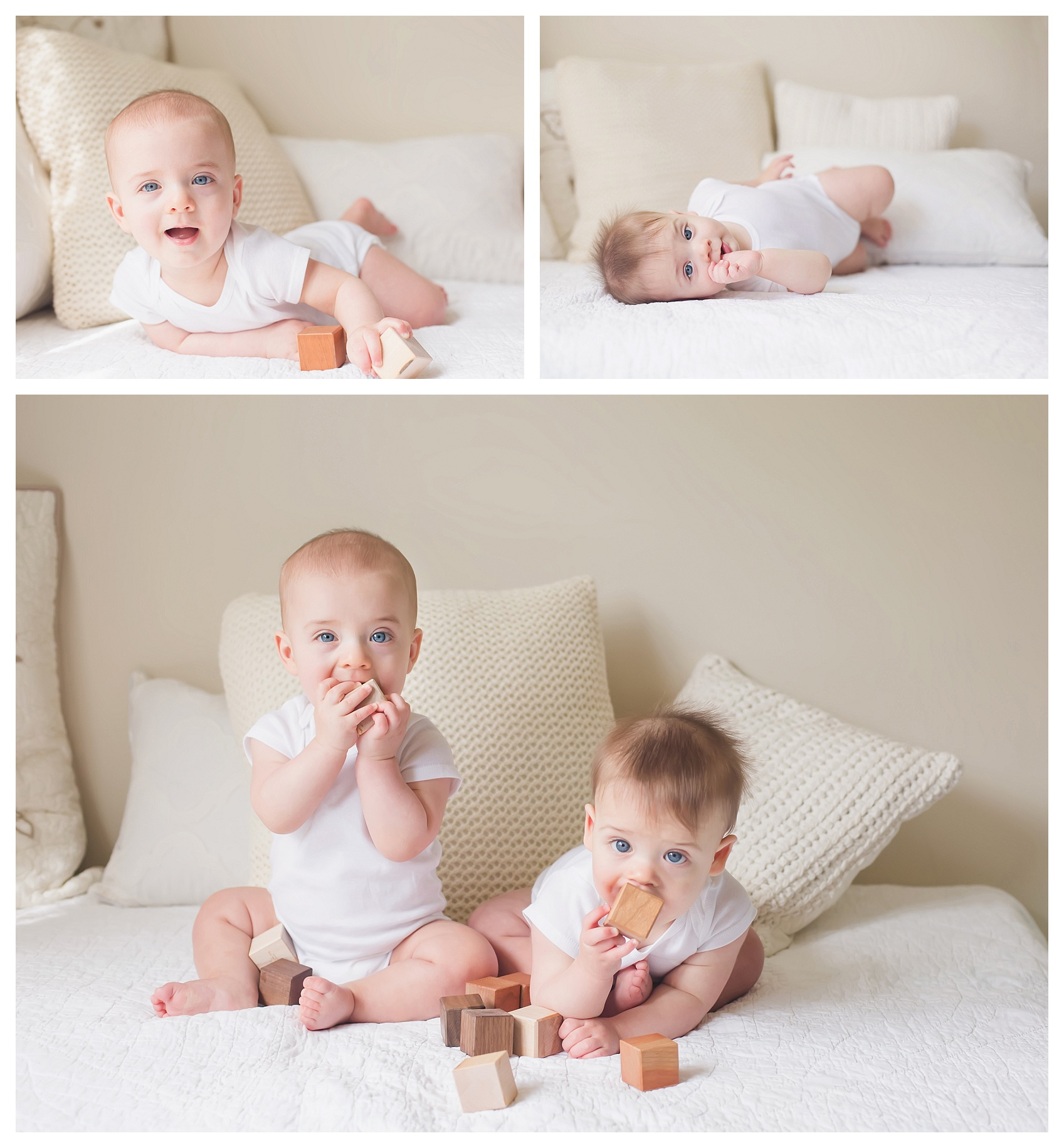 twin boys 7 month session