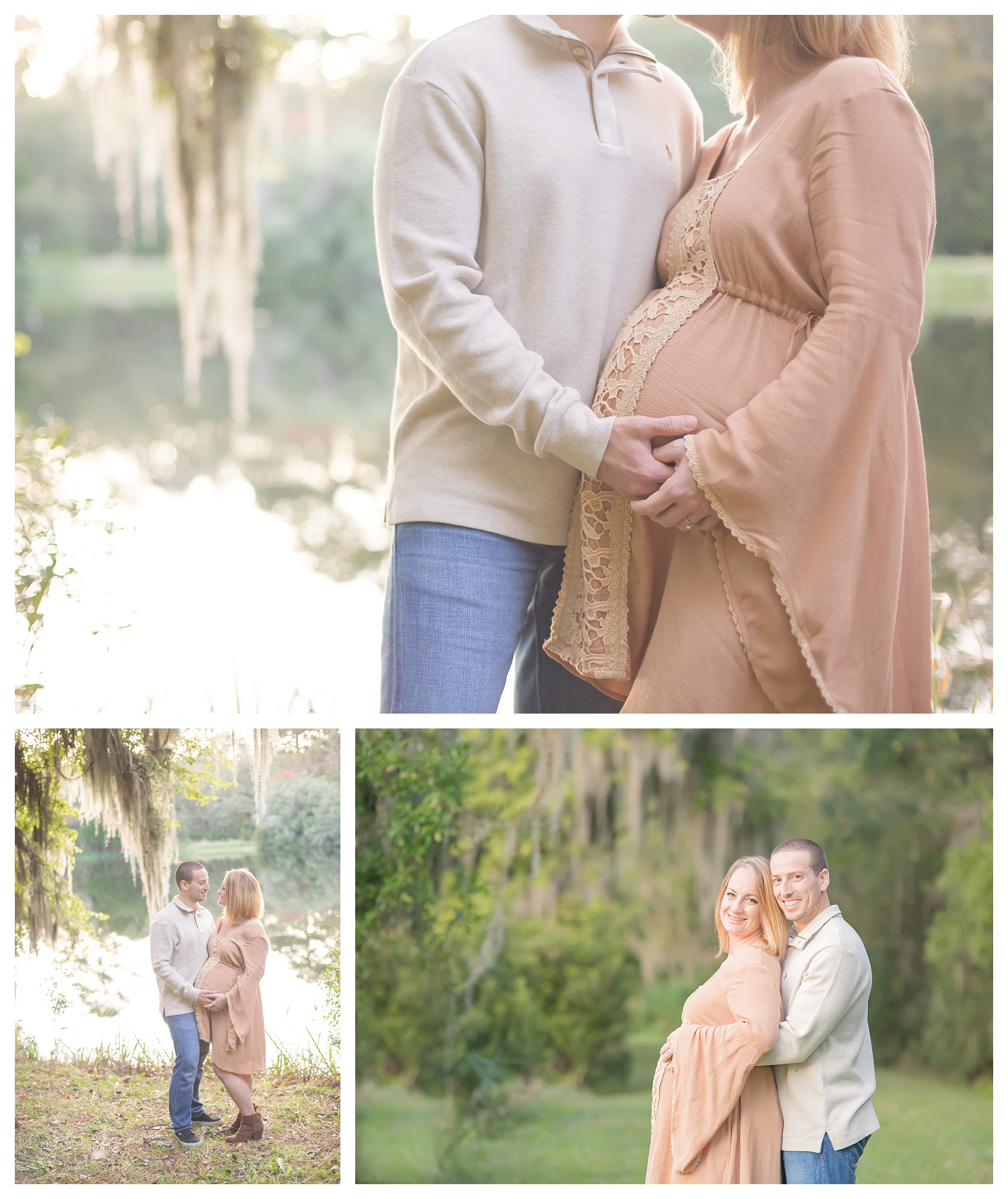 maternity session featuring Free People dress