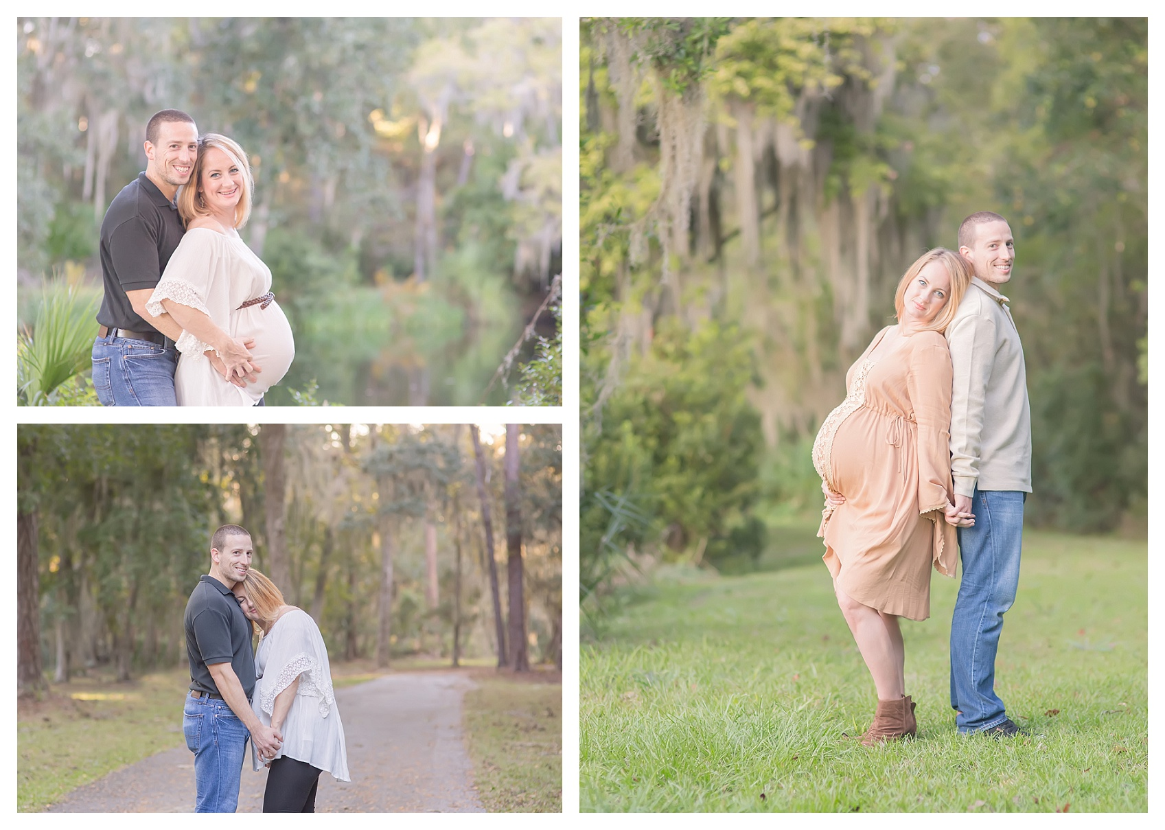styled maternity session on st simons island