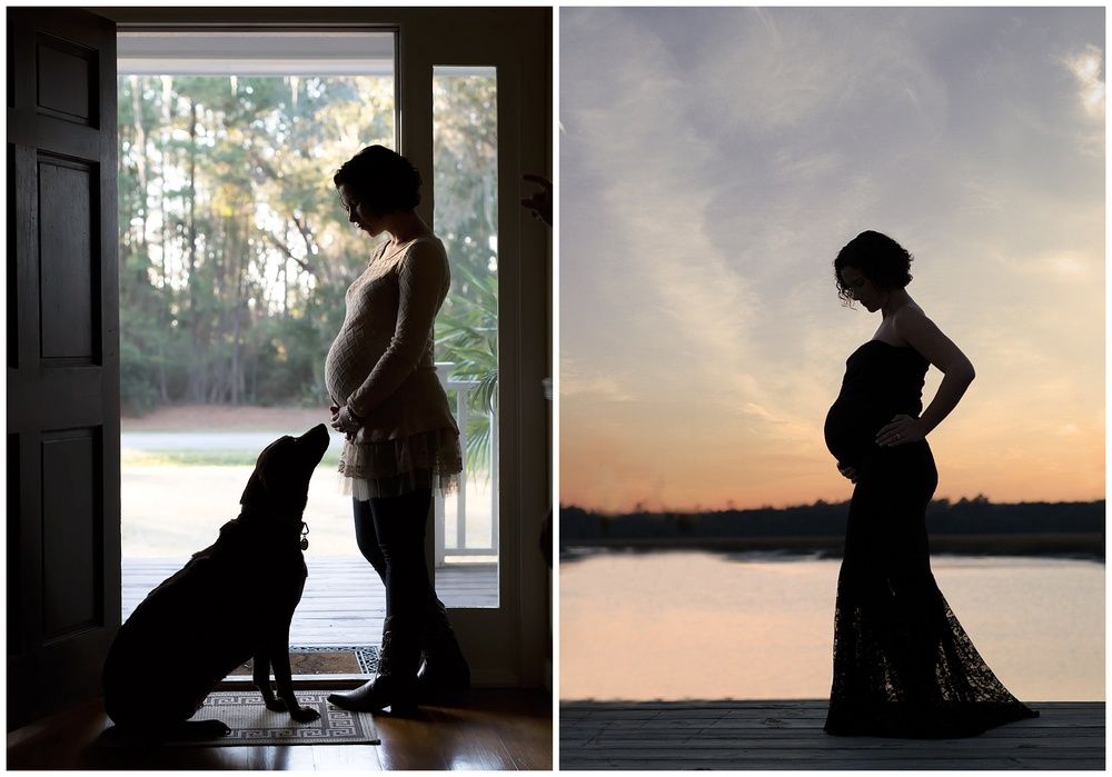 sunset maternity silhouette