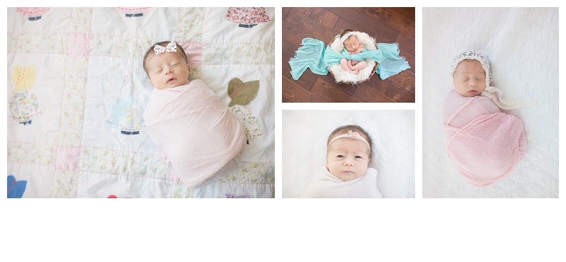 Newborn baby girl photo session