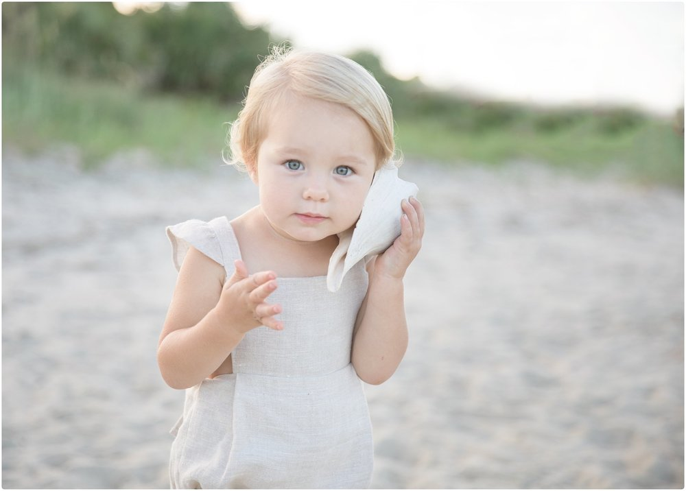 sea island baby with shell | candace hires photography | candacehiresphotography.com