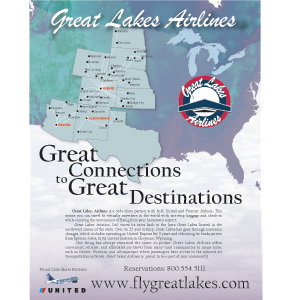 great lakes aviation route map Great Lakes Airlines Route Map Onecreativebird great lakes aviation route map