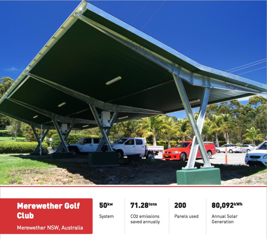 solar_car_shade_Merewether_Golf_Club