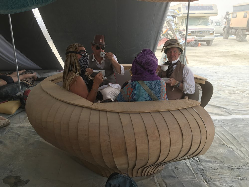 Temple of Unitea BurningMan 2016 -  Steampunk High Tea with The Neverwas Haul