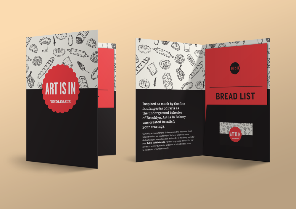 Art is in Bakery - Pochette promotionnelle / Promotional Kitfolder