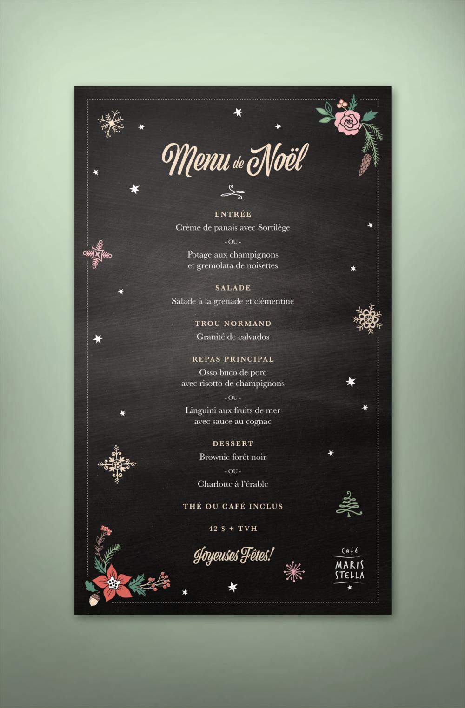 Café Maris Stella - Menu de Noël