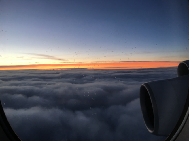 sunrise from the airplane