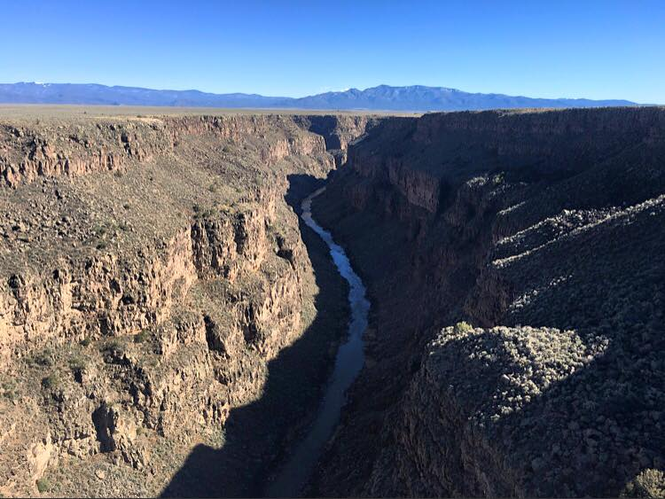 the Rio Grande Gorge. Which I stumbled upon completely by accident